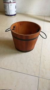 Wood Crafts Decorative Cheap Mini Wooden Barrels with Rope Bands pictures & photos