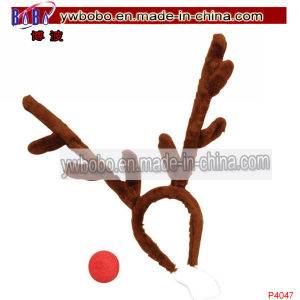 Rudolph Reindeer Christmas Stag Hair Decoration Antler Headband (P4047) pictures & photos