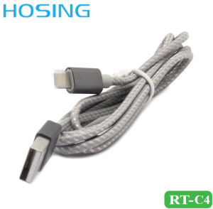 2017 Newest 2 in 1 Nylon Braided Data Cable Fast Charging Cable 1m OEM Logo for Universal Mobile Phone pictures & photos