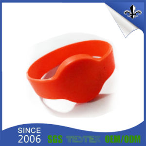 Custom Watch-Shape Colorful Silicone Wristband for Promotion Item pictures & photos