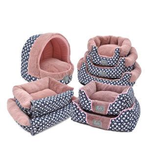 Coral Velvet Grid Dog Beds Star Royal Pet Cushion pictures & photos