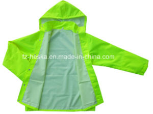 En343 En20471 Mens Safety Waterproof Cheap Fluorescent Hi Vis Rain Jacket pictures & photos