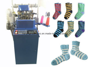 6f Automatic Flat Socks Knitting Machine Hj608 pictures & photos