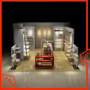 Wooden Display Stand Clothes Shop Fitting for Floor Display pictures & photos