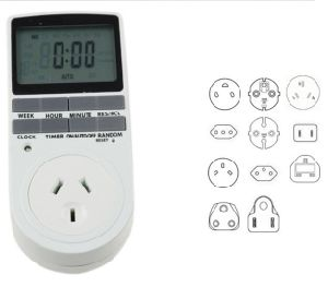 24h 7day Week 220V LCD Large Display Plug-in Programmable Digital Timer pictures & photos