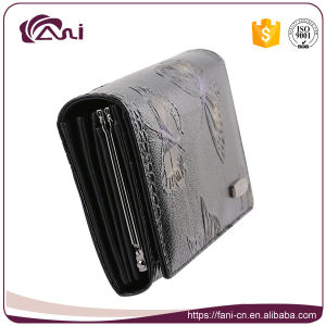 Fashion Design Butterfly Printed Embossed Leather Wallet for Women pictures & photos