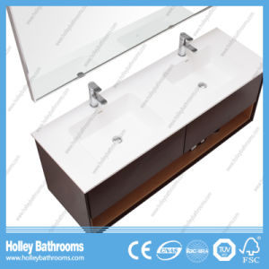 High Quality Wall Mounted Bathroom Cabinet with Side Vanity and 2 Basins (BF372D) pictures & photos