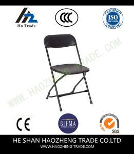 Hzpc278 Capacity Black Plastic Folding Chair pictures & photos