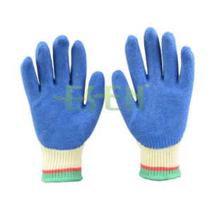 Srsafety 10g Color Crinkle  Latex  Palm  Coated Building Work  Glove, Blue Safety Building Working  Gloves pictures & photos
