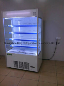 Air Curtain Upright Display Showcase Milk Refrigerator pictures & photos