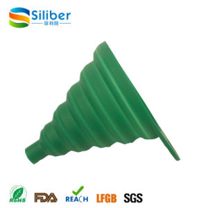 Colorful Flexible Collapsible Silicone Funnel/Hopper for Sale pictures & photos