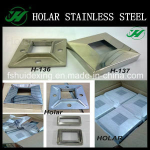 Mirror Polish Stainless Steel Railing Square Base Cover pictures & photos