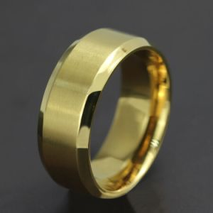 Titanium Stainless Steel Simple 18k Gold Fashion Designer Man Rings Jewelry pictures & photos