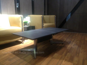 Wooden Coffee Table with Tempered Glass (CT-V5) pictures & photos