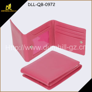New Elegant PU Lady Wallet, Cheap Fake Leather Lady Wallet for Girls with 3 Folds pictures & photos