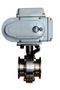 Ss316L Electric Sanitary Butterfly Valve pictures & photos