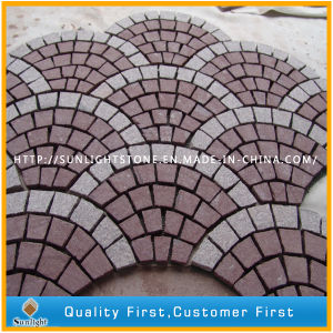 Natural Cheap Red Granite Mosaic Paver Stone for Garden and Park pictures & photos