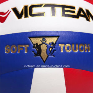 Nylon Wounded Synthetic Leather Volleyball Ball pictures & photos