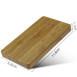 Christmas Promotion Gift Dual USB Output Bamboo Power Banks (PB-Z02A) pictures & photos
