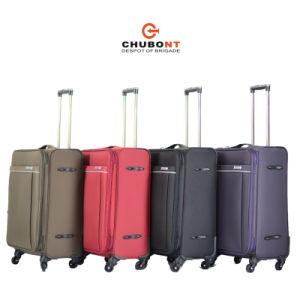 Chubont Hot Sell Fashion Color Matched 100% Polyester Trolley Luggage pictures & photos