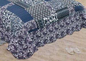 Printed 100% Microfiber Fabric Quilt/Bedding Set pictures & photos