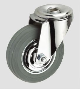 3inch Gray Rubber Industrial Caster Without Brake