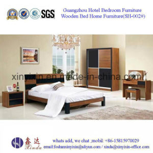Foshan Factory Wooden Bed Modern Bedroom Sets Furniture (F18#) pictures & photos