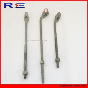 Galvanized Steel Thimble Twin Triple Eye Anchor Rods for Pole Line Hardware pictures & photos