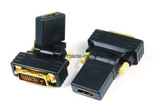 270 Degree Rotating DVI18+1 (24+1) Male to HDMI Female Adapter pictures & photos