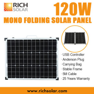 120W 12V Mono Photovoltaic Folding Solar Panel for Home Use pictures & photos
