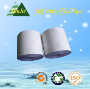 Printed Type Carbonless Cashier Paper Roll Wholesale NCR Paper Roll pictures & photos