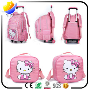 Children′s Schoolbag Lovely Pull Rod Bag Schoolbag pictures & photos