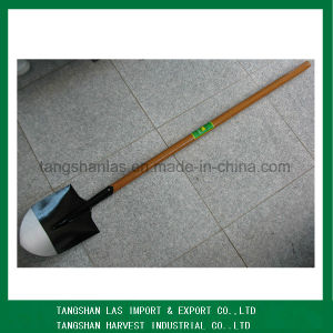 Spade Round Point Long Wood Handle Shovel Spade pictures & photos