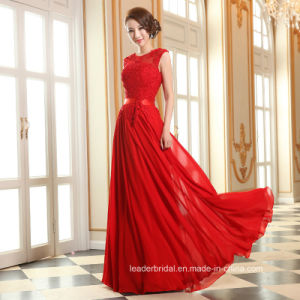 Lace Chiffon Party Prom Gowns Stock Evening Dress Lb1875 pictures & photos