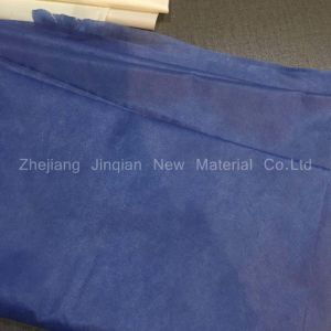 Indigo Blue SMS Nonwoven Fabric Use for Disposable Surgical Gown pictures & photos