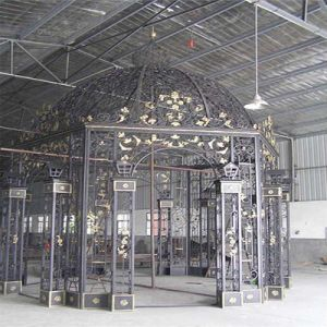 Steel Crafts House Pavilion Decorative Wrought Iron for Gates Art Metal pictures & photos
