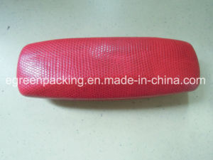 Red PU Leather Covered Metal Eyeglasses Case (DF10) pictures & photos