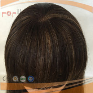 Full Hand Tied Lace Base PU Custom Front Lace Human Remy Virgin Hair Wig pictures & photos