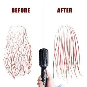 2017 Electric Ceramic Fast Hair Straightener Brush pictures & photos