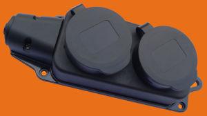 European 1, 2, 3 Way Industrial Black Extension Socket (P6110E) pictures & photos
