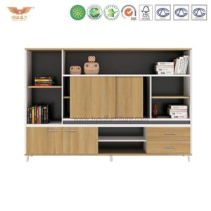 Melamine Office Storage Cabinet Bookcase Furniture File Cabinet (H90-0601) pictures & photos