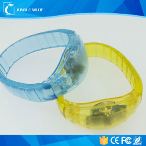 Printing Logo Gleamy Wedding Favours LED Bracelets pictures & photos