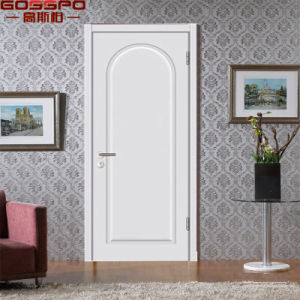 White Custom Main Solid Wood Interior Door for Houses (GSP2-101) pictures & photos