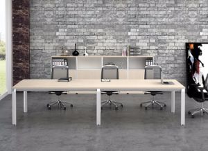 White Customized Metal Steel Office Conference Desk Frame with Ht08-3 pictures & photos