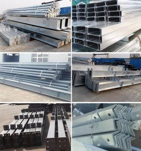Economical Galvanized/Painted Metal Steel Beams for Sale pictures & photos