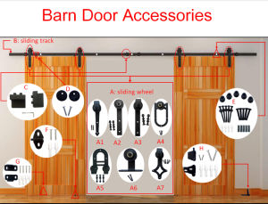 Sliding Barn Door Hardware with POM Roller pictures & photos