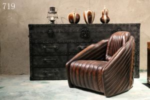Vintage Industrial Living Room Canadian Leather Furniture pictures & photos