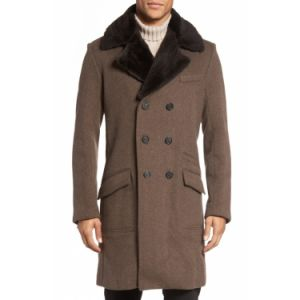 Luxuriously Soft and Dense Cashmere Double-Breasted Long Coat pictures & photos