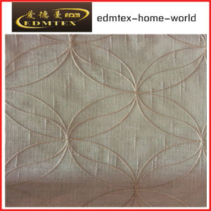 Fashion Embroidered Organza Curtain Fabric EDM2045 pictures & photos