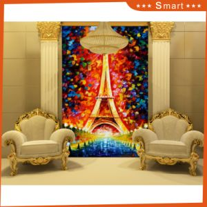 Custom Printed Type Beautiful Scenery Canvas Print Paris Tower Scenery in Meeting Room No: Hx-4-048 pictures & photos